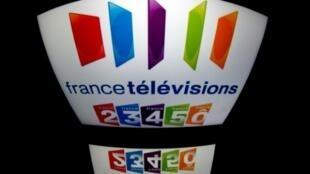 Logo de France Télévisions, le 29 décembre 2012 à Paris