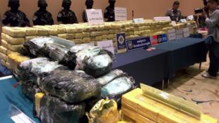 Drogas apreendidas pela polícia tailandesa