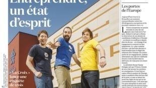 """صفحه اول روزنامه """"لاکروا""""ی امروز، ٧ مارس ٢٠١٦"""