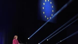 Nathalie Loiseau s'exprime lors d'une réunion publique précédant les élections européennes à Strasbourg, le 11 mai 2019.