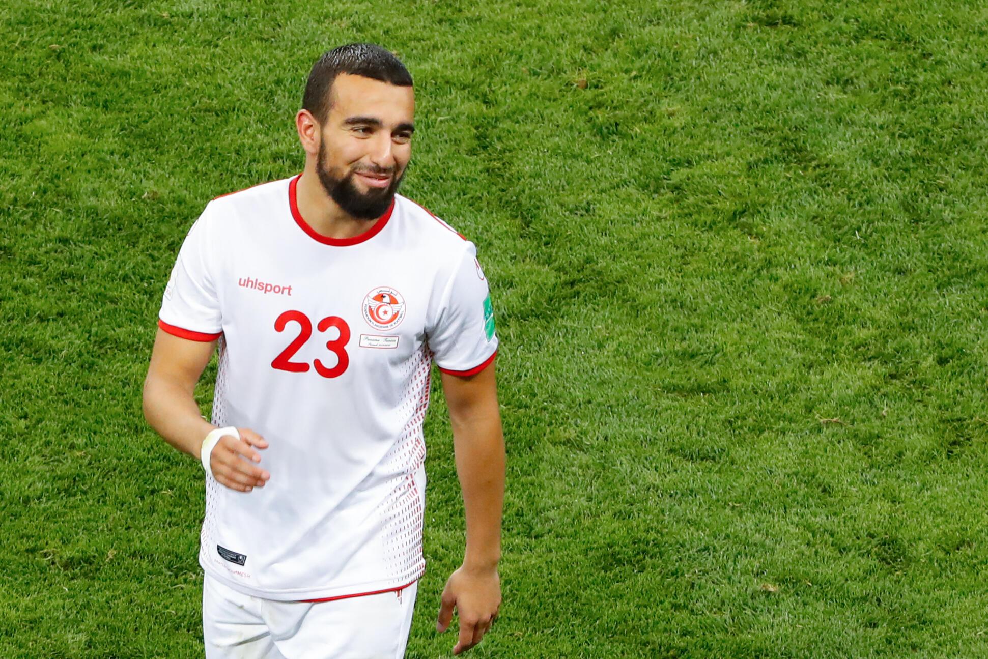 Le Tunisien Naïm Sliti lors de la Coupe du monde 2018 en Russie.