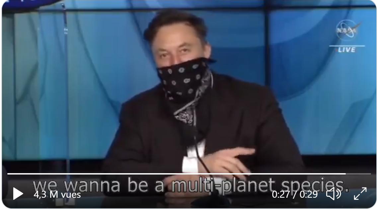 Musk Multi-planet species
