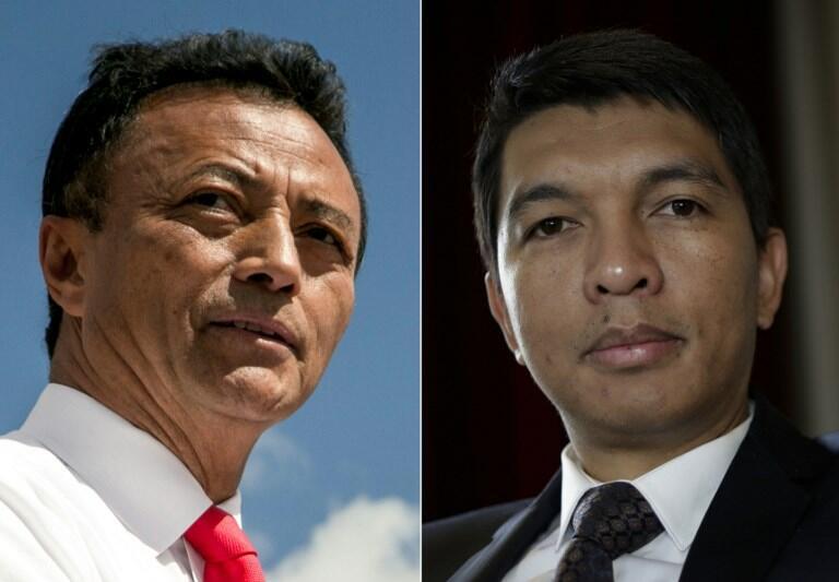 Marc Ravalomanana e Andry Rajoelina os dois candidatos à segunda volta da eleição presidencial em Madagáscar.