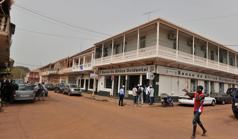 Rua de Bissau, onde a polícia impediu este sábado manifestação de jovens inconformados.
