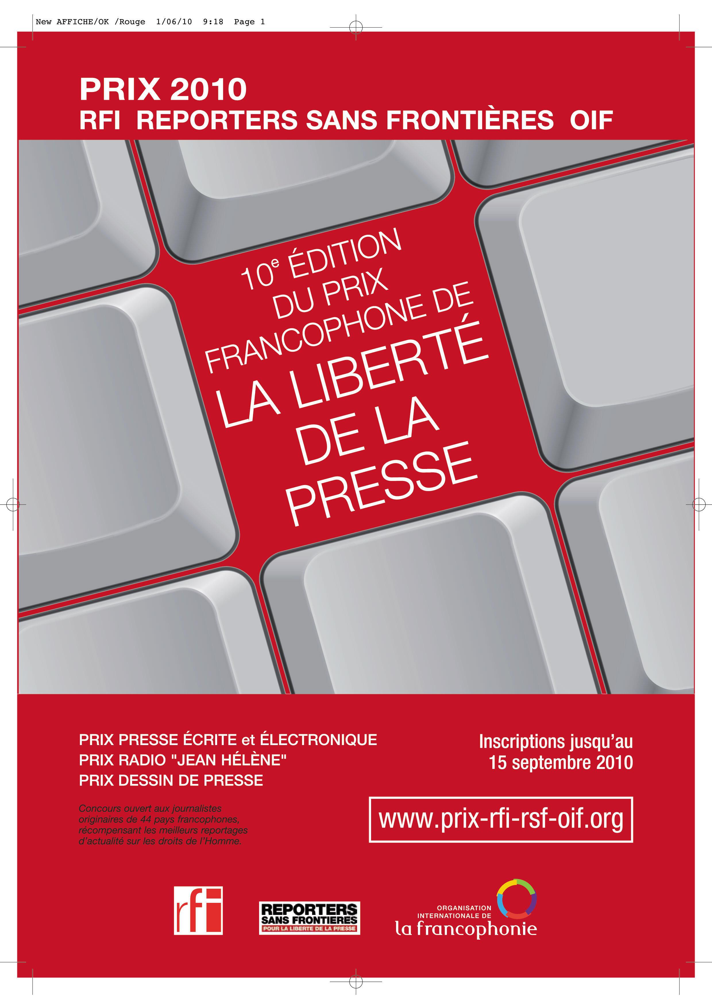 Prix 2010 RFI RSF OIF