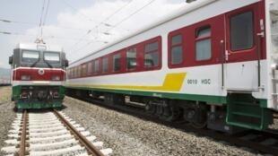 La ligne de train, qui reliera Addis-Abeba à Djibouti, est inaugurée ce 5 octobre 2016 en Ethiopie.