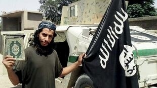 Bataclan massacre mastermind Abdelhamid Abaaoud as he appeared on the Islamic State website.