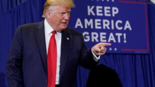 Donald Trump lors d'un meeting de campagne le 9 septembre 2019 à Fayetteville, en Caroline du Nord.