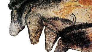 A painting of horses from the Grotte Chauvet