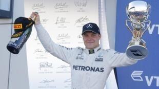 Valtteri Bottas comemora primeira vitória na Fórmula 1.