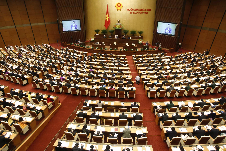 Quốc hội Việt Nam trong ngày khai mạc kỳ họp mùa thu 20/10/2014. Cho đến nay, dự thảo Luật Biểu tình vẫn chưa được đem ra thảo luận.