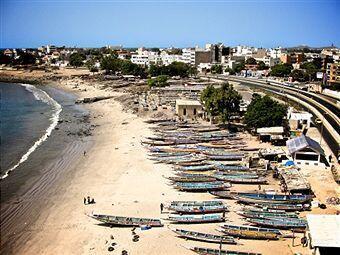 Le marché aux poissons de Soumbedioune, à Dakar, au Sénégal.
