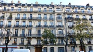 Prédios parisienses de estilo Haussmann