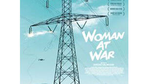Capture d'écran de l'affiche du film « Woman at war » .