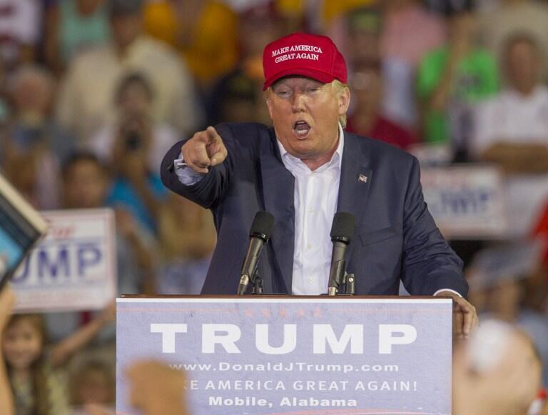 El candidato a la investidura republicana Donald Trump.