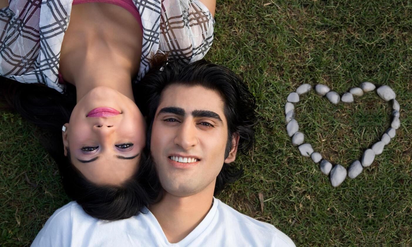 Casal de namorados na  Índia