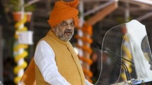 Le ministre de l'Intérieur indien Amit Shah, ici le 24 août 2019 a relancé le débat épineux sur l'unification linguistique du pays/