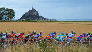 This year's tour de France passes in front of the Mont-Saint-Michel.