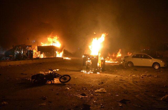 巴基斯坦奎達軍車遇襲爆炸現場,2017年8月12