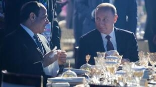 Владимир Путин и президент Египта Абдель Фаттах ас-Сиси на саммите Россия-Африка в Сочи, 24 октября 2019 года