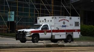 Une ambulance au Texas Medical Center de Houston, le 28 juin 2020. (Illustration)
