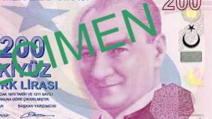 Un billet de 200 livres turques (monnaie turque).