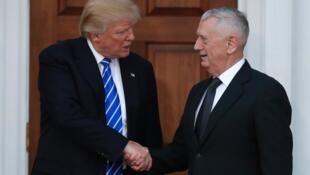 دونالد ترامپ و ژنرال بازنشسته جیمس ماتیس