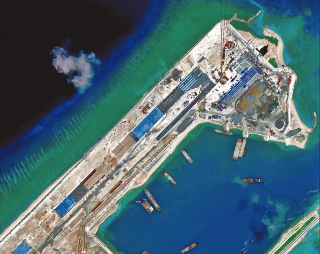 永暑礁機場俯瞰圖