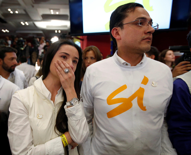 Thất vọng của những người ủng hộ thỏa thuận hòa bình sau khi thông báo kết quả, ngày 02/10/2016 tại Bogota.