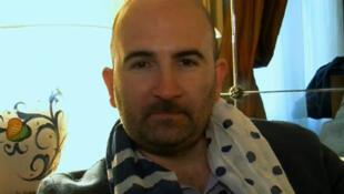 L'écrivain italien Donato Carrisi qui a participé à cette rencontre au Parlement européen.