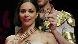 Натали Пешала и Фабиан Бурза - бронзовые призеры в парных танцах на льду ЧМ в Ницце 29/03/2012