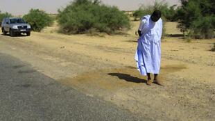 La route sur laquelle les quatre touristes français avaient été tués en décembre 2007.