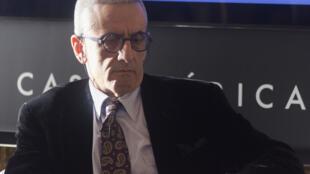 David Rieff, écrivain américain et grand reporter, le 7 avril 2016 à la Casa de América à Madrid.