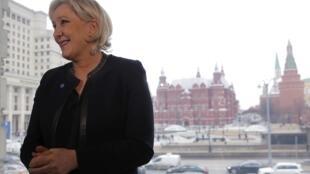 Марин Ле Пен во время визита в Москву. 24.03.2017