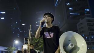 """Hoàng Chí Phong đấu tranh chống lại việc áp đặt môn """"giáo dục tinh thần yêu nước Trung Hoa"""" tại Hồng Kông - REUTERS"""