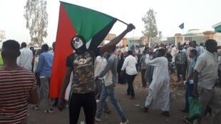 'Marcha del millón', este 2 de mayo de 2019 en Jartum, Sudán.