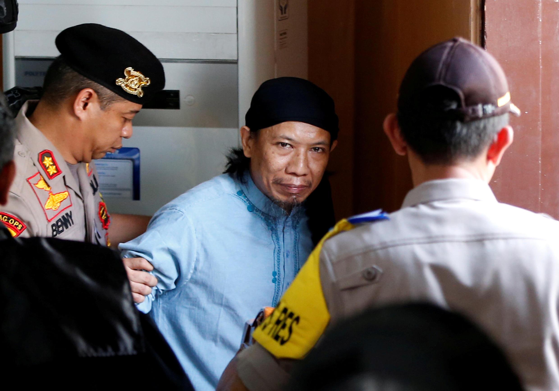 Aman Abdurrahman après l'énoncé du verdict à Jakarta, le 22 juin 2018.