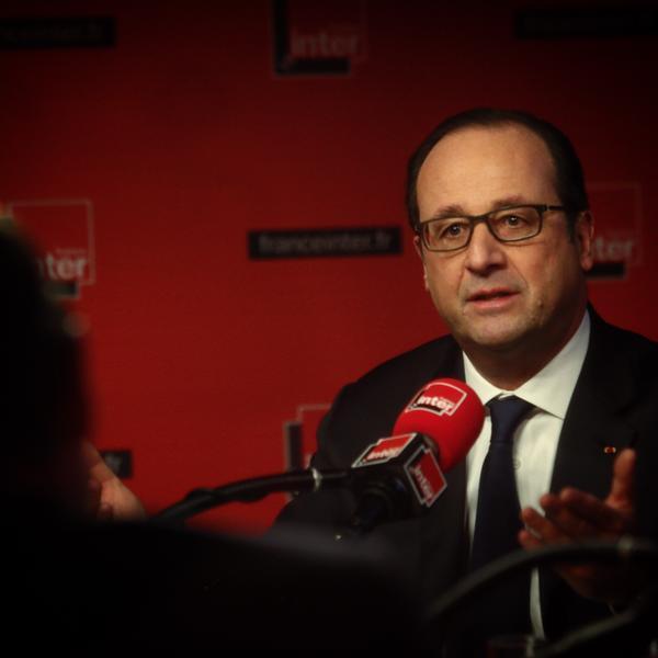 François Hollande, entrevistado por France Inter, el 5 de enero de 2015.