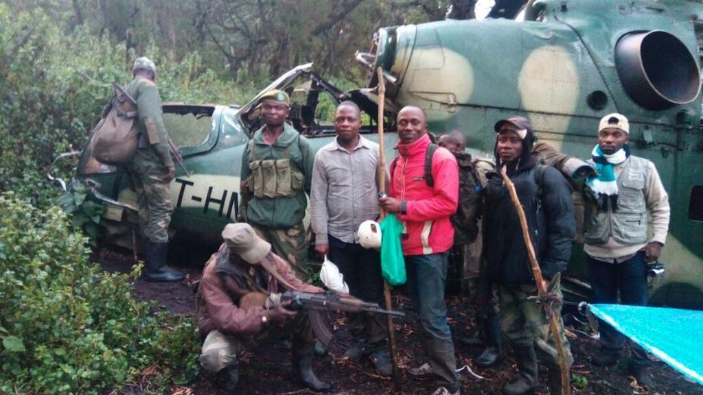 Wanahabari wa DRC wakiwa katika mbuga ya wanyama ya Virunga