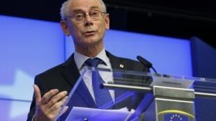 Le président du Conseil européen, Herman Van Rompuy.