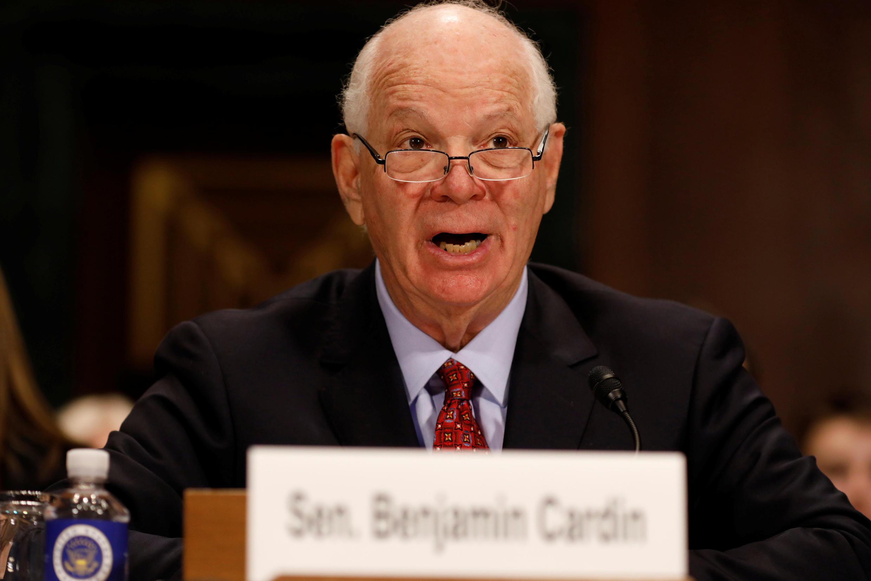 Thượng nghị sĩ Mỹ Benjamin Cardin. Ảnh ngày 15/03/2017.