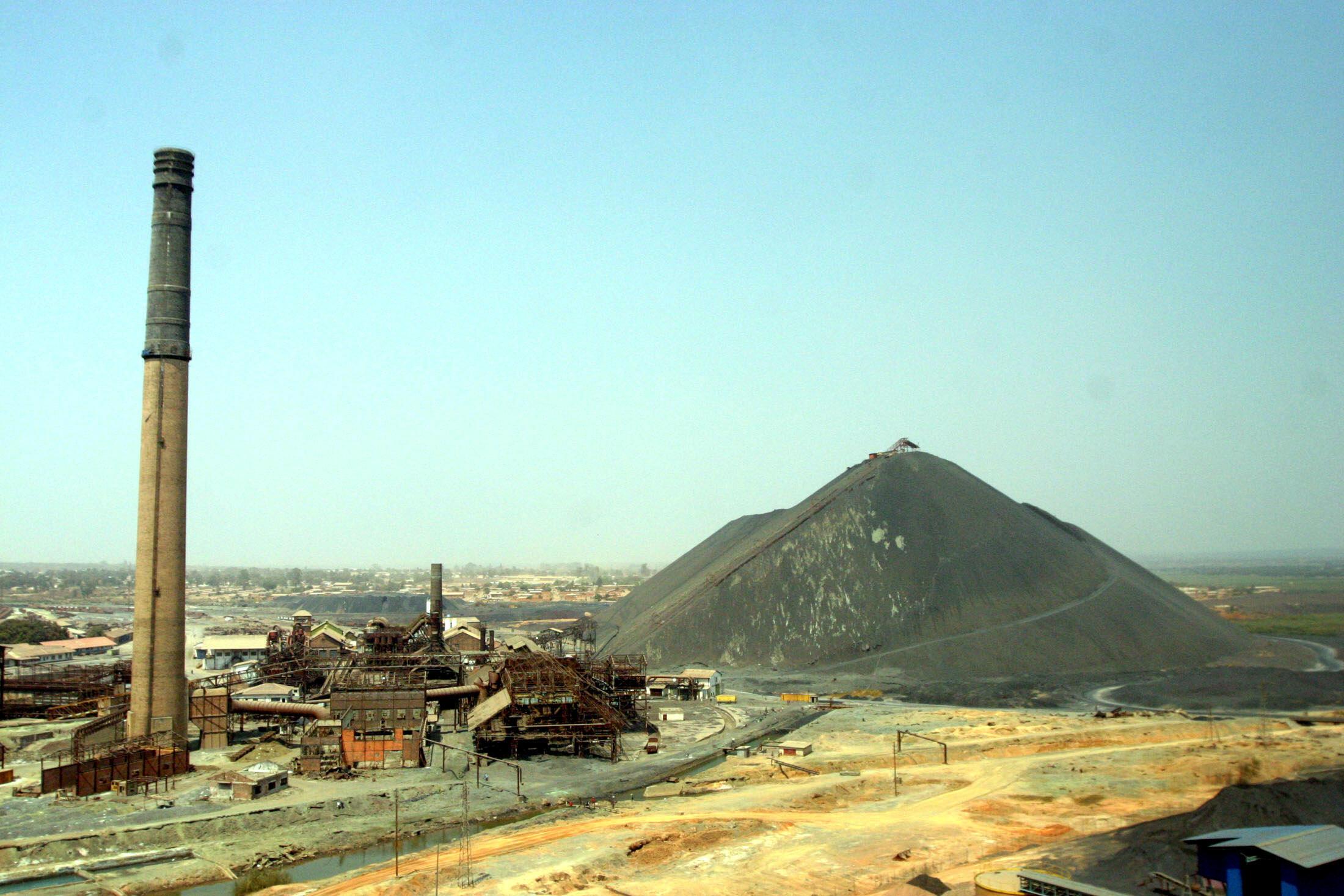存档图片: 刚果(金)卢本巴希的铜矿。摄于2005年8月 Image d'archive: La mine de cuivre, à Lubumbashi, en RDC. Photo prise en août 2005.
