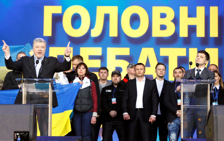 Кандидаты в президенты Украины Петр Порошенко и Владимир Зеленский