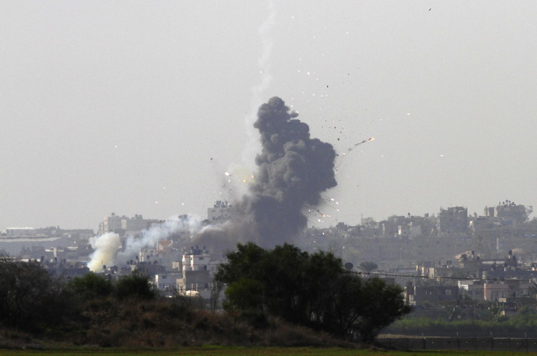 Phía bắc dải Gaza  sau đợt oanh kích của Israel ngày 18/11/2012.