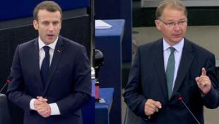 En avril 2018, déjà au Parlement de Strasbourg, l'eurodéputé vert Philippe Lamberts s'en prenait à Emmanuel Macron. En campagne, il s'en prend aujourd'hui à la politique néolibérale.