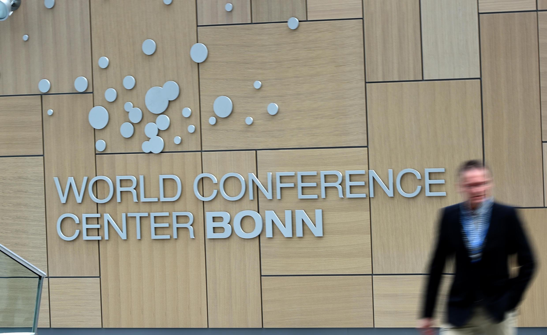 Le centre international de conférence de Bonn, en Allemagne, où ont lieu jusqu'au vendredi 24 octobre les discussions pour le futur accord sur le climat.