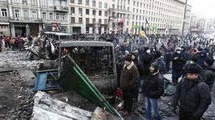На баррикаде в Киеве 21/01/2014