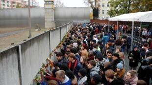 مراسم سیامین سال فروپاشی دیوار برلین