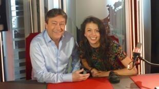 La cantante de jazz colombiana Andreïa con Jordi Batallé en RFI