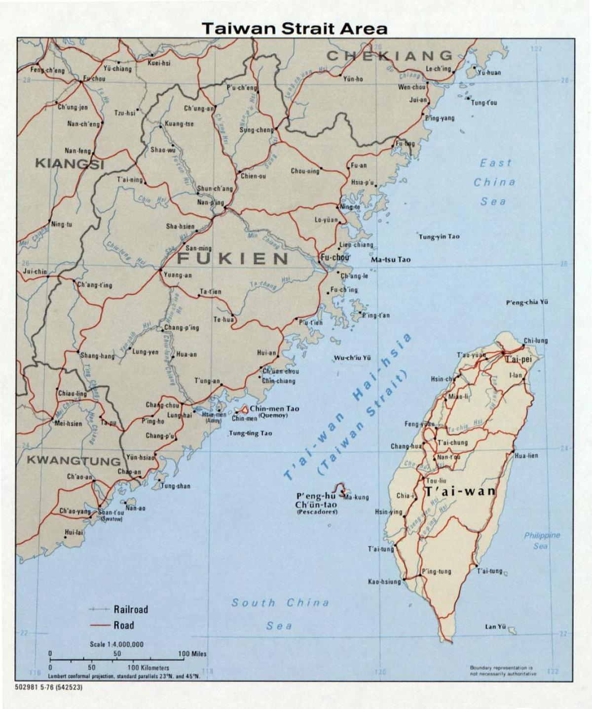 台湾海峡图